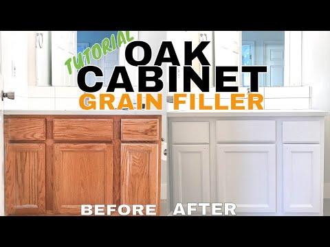 Make Oak Cabinets Look Modern (Grain Fill) // VLOG 034