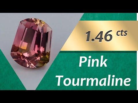Pink Tourmaline Ring: Design Unique Ring with Pink Tourmaline 1.46 Carat