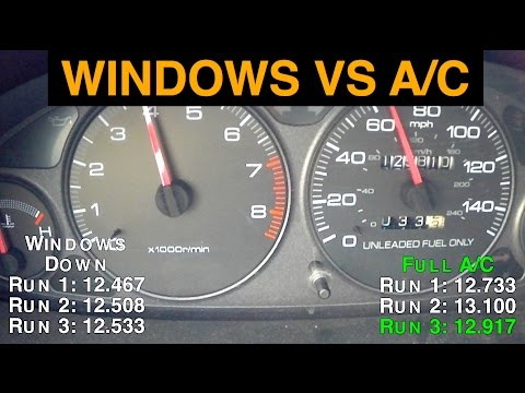 Air Conditioning vs. Windows Down - Best Gas Mileage