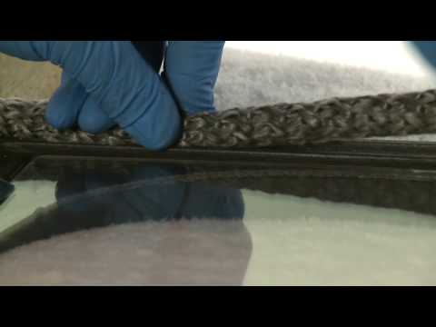 How to replace the rope the door seal of your wood burner