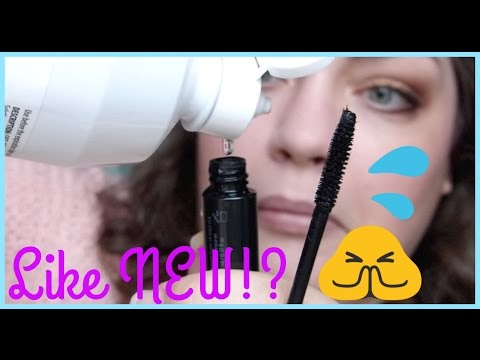 HACK OR HOAX | Revive Dried-Out Mascara w/Contact Solution!?