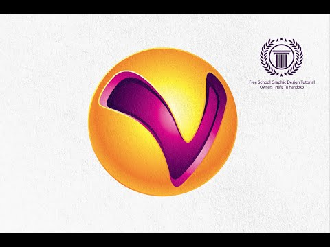illustrator logo design tutorial how to design a 3D Logo with Letter V on the Global Circle