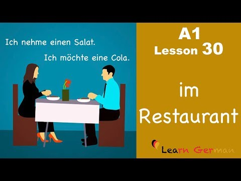 Learn German | Ordering in a Restaurant | das Restaurant | German for beginners | A1 - Lesson 30