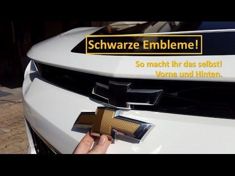 2017 Camaro schwarze Embleme/Bowtie! So wirds getauscht.