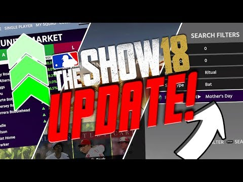 ROSTER UPDATE + MOTHER'S DAY DIAMOND + NEW PROGRAMS! MLB THE SHOW 18 UPDATE