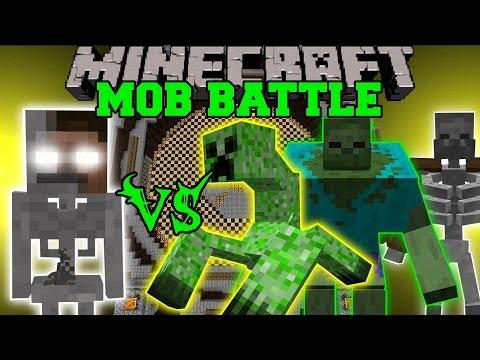 SKELEBRINE VS MUTANT CREATURES - Minecraft Mob Battles - Minecraft Mods