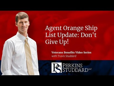 Agent Orange Ship List Update: Don't Give Up!