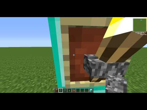 Minecraft: How To Make a Torch into a Item Frame with a Wall. Working For PC