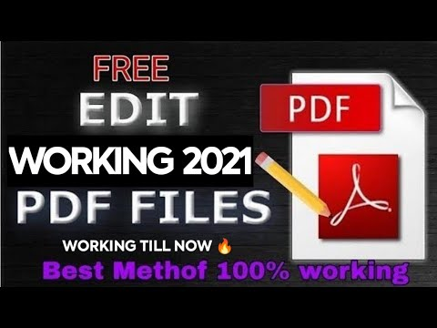 How To edit  Pdf any type without watermark with this trick 10000% working .
