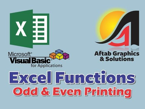 How to print Odd and Even Pages in MS Excel 2007 using Code through VBA