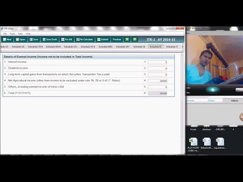 HOW TO FILE TAX RETURN FOR AGRICULTURAL INCOME  AY 2015 16