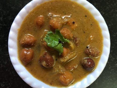 Kondakadalai Curry Recipe Tamilnadu Style | Black Chickpeas Curry | How to Make Black Channa Curry