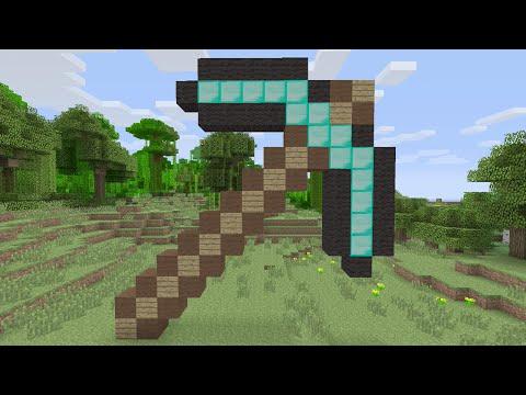 Minecraft Tutorials - Diamond Pickaxe Pixel Art