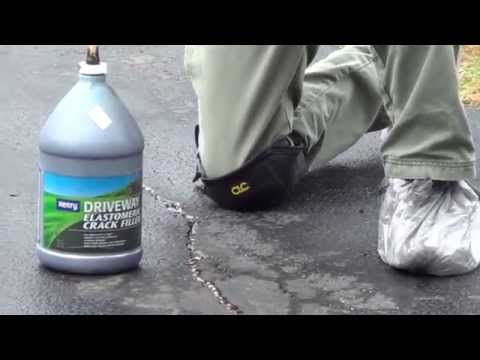 Asphalt Crack Repair - Steps to Fill Driveway Cracks