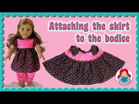 DIY | American Girl doll dress: Attaching the skirt • Sami Doll Tutorials