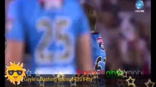 World Record Fastest Fifty By Chris Gayle In BBL