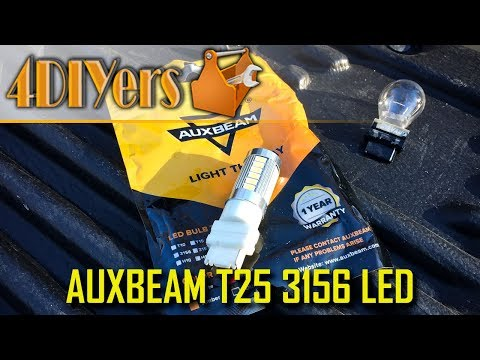 Review: Auxbeam T25 3156 LED Bulbs