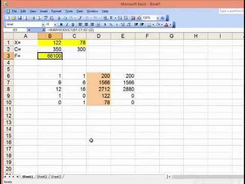 Solver trong Excel