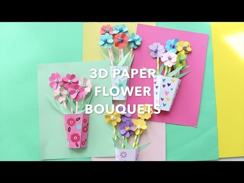How to Make 3D Paper Flower Bouquets
