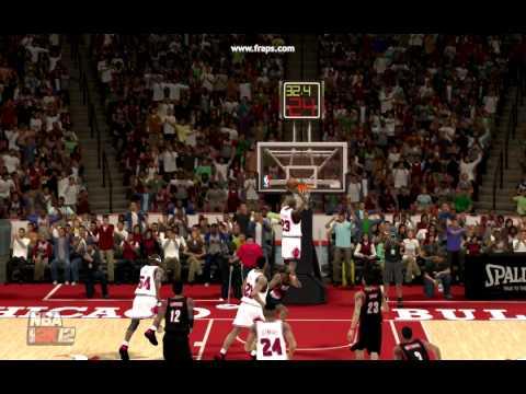 NBA 2K12 Alley oop Michael Jordan