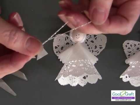 How to Make a Paper Doily Angel Using Aleene's Original Tacky Glue (Long Version)