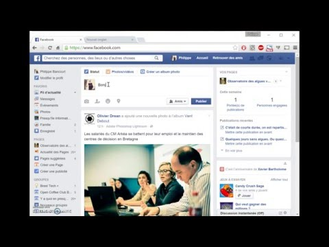 Rendre public un post Facebook