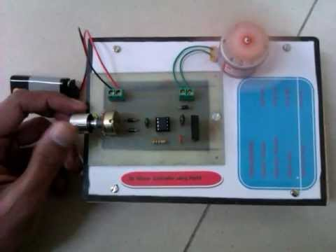 SPEED CONTROLLER OF DC MOTOR USING PWM PROJECT