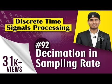 What is Decimation in Sampling rate.