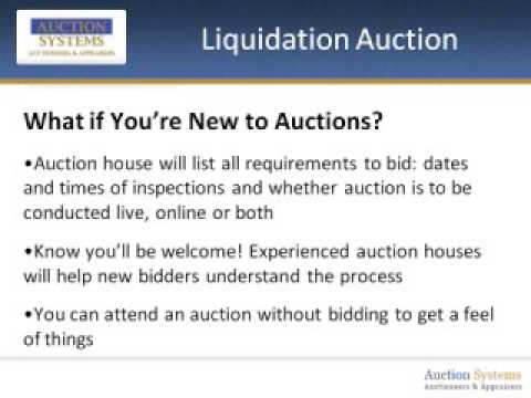 Liquidation Auction: Tips for the Newbie