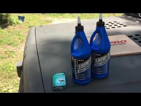 Jeep Cherokee rear diff fluid change. Chrysler 8.25