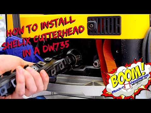 Installing a Shelix Helical Cutterhead in a Dewalt DW735 Planer // How to
