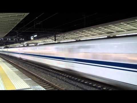 Shinkansen N700 - high-speed bypass at Maibara Station