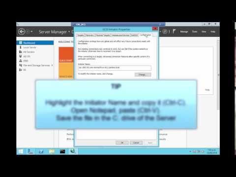 NetApp: Create a LUN and attach as a drive on Windows Server 2012