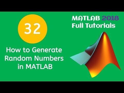 32 MATLAB Beginners Tutorial- How to Generate Random Numbers in MATLAB