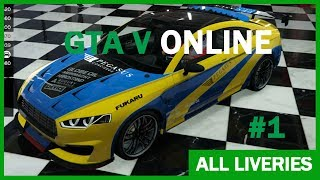 CARS WITH LIVERIES in GTA Online PART #1
