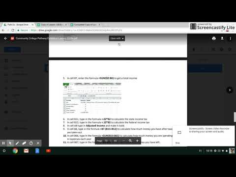Screencast- Budget Planning Worksheet Completion