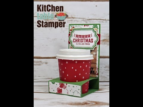 Stampin Up! Labels to Love Espresso Cup Gift Card Holder with Kitchen Table Stamper