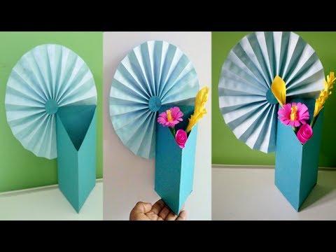 How to Make A Flower Vase | DIY Simple Paper Craft | Making Paper Flower Vase | Paper Crafts