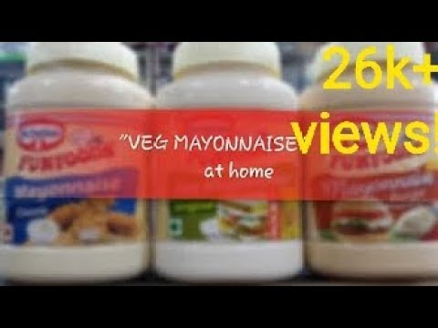 How to make instant eggless mayonnaise at home/ Creamy eggless mayonnaise