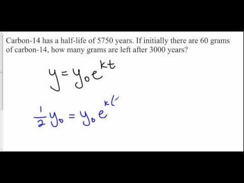 Exponential Decay: Half Life