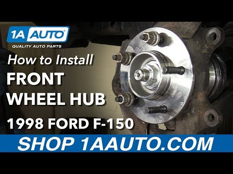 How to Install Replace Front Wheel Bearing Hub Assembly 1997-99 Ford F-150