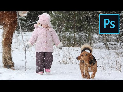 Photoshop Snow Effect: Add falling snow to your photos!