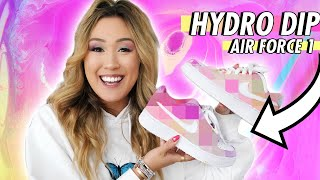HYDRO DIPPING MY AIR FORCE 1 SHOES