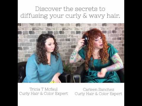 Curly hair tips- how to use a deva hand and basket diffuser.