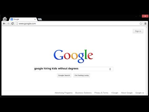 Google is Hiring Kids without Degrees....more fuel to the Degree Myth