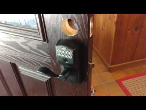 schlage keypad door lock installation problems