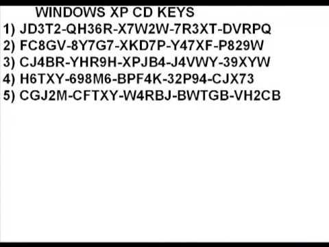 Windows xp cd keys