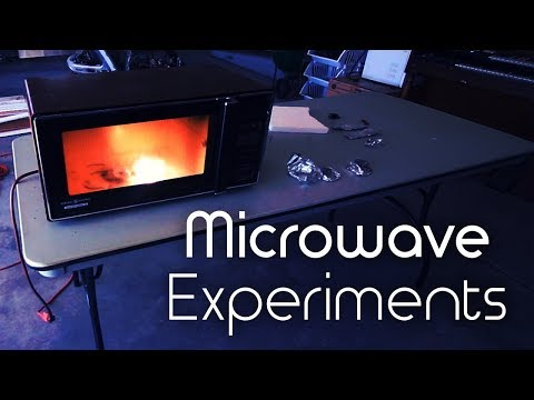 Microwave Experiments with Various Household Objects