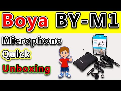Boya BY-M1 Omnidirectional Lavalier Condenser Microphone Unboxing For DSLR and Smartphones.