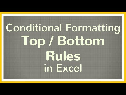 How to Use Top / Bottom Rules Conditional Formatting in Excel - Tutorial